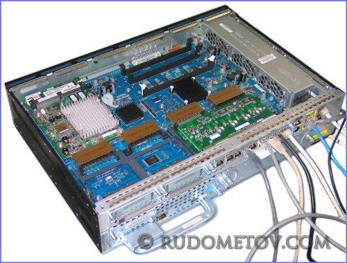 Cisco router with encryption module