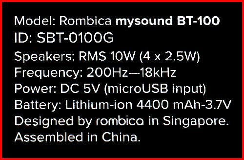 Rombica MySound BT-100 03