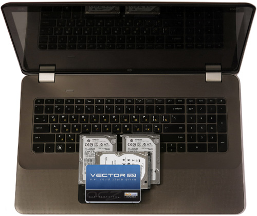 SSD and HDD for HP ENVY-17 dop
