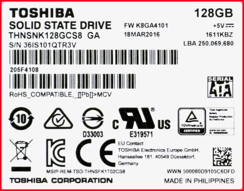 TOSHIBA THNSNK128GCS8 03