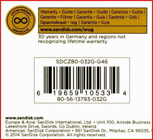 SDCZ80 032G G46 03 SanDisk Extreme USB3.0 32GB (часть 1)