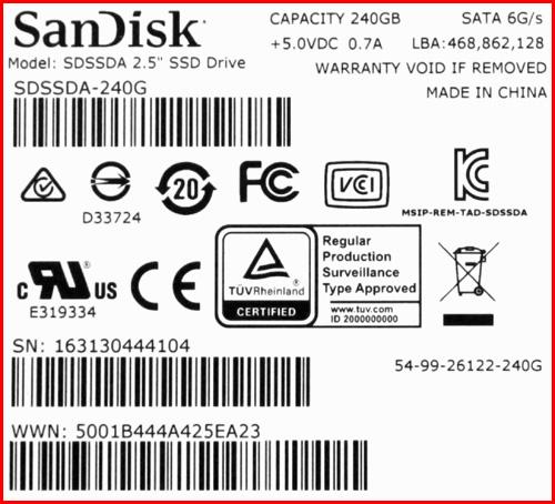 SSD PLUS 04 SanDisk SDSSDA 240G G26 (часть 2)