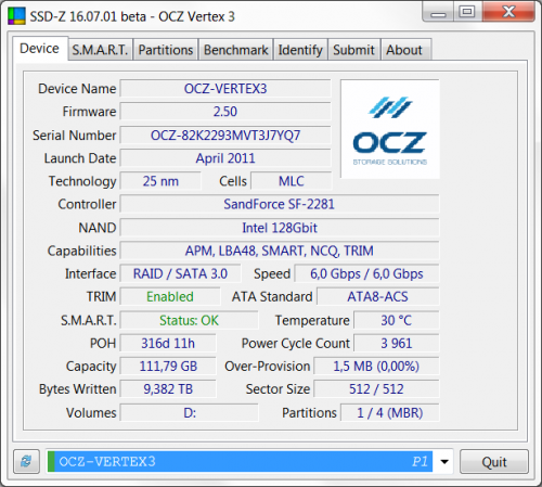 OCZ Vertex 3 05 500x449 SSD OCZ Vertex 3 120GB (часть 2)