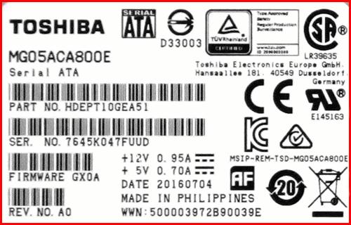 Toshiba MG05ACA800E 2 Корпоративный Toshiba HDD 8TB