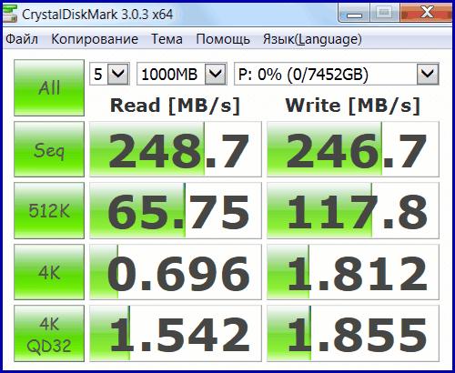 MG05ACA800E RAID 06 1 Toshiba Enterprise Capacity HDD 8TB в RAID 0 (часть 2)