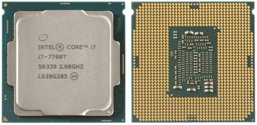 CPU Intel Core i7–7700T 01 Мини ПК с десктопным CPU (часть 1)