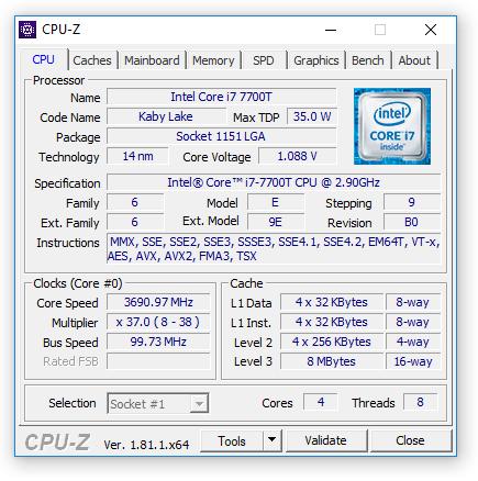 i7 7700T Cpu Z Собираем мощный компьютер небольшого размера