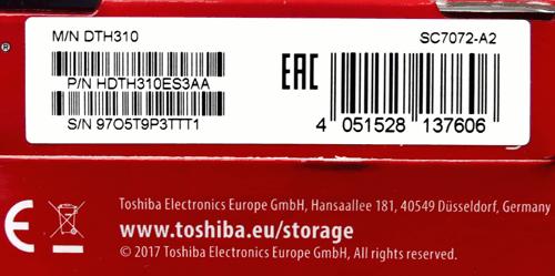 HDTH310ES3AA 03 1 Toshiba Canvio Alu 1TB (часть 1)