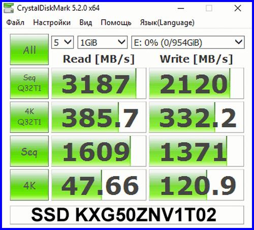 XG5 1024GB 03 Компактный SSD 1024GB в M2 2280